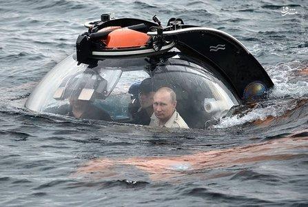گشت زنی «ولادیمیر پوتین» در اعماق دریای سیاه به منظور اکتشاف کشتی های غرق شده