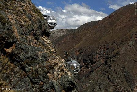 اتاقک های معلق در دره مقدس پرو