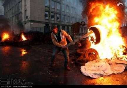 ادامه اعتراضات کشاورزان و دامداران فرانسوی