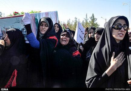 مراسم تشییع پیکر دو شهید گمنام در ارسک استان خراسان جنوبی برگزار شد