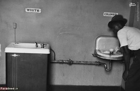عکس آبخوری های مجزا در کارولینای شمالی یکی از عکس های نمادین دهه 50 است که