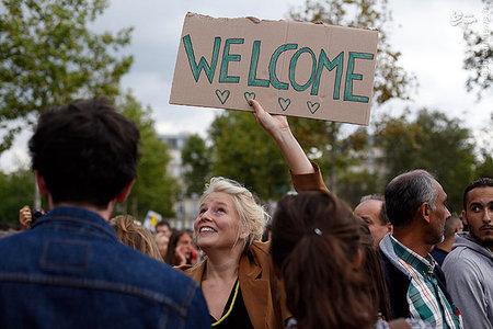 گردهمایی حمایت از مهاجران در پاریس