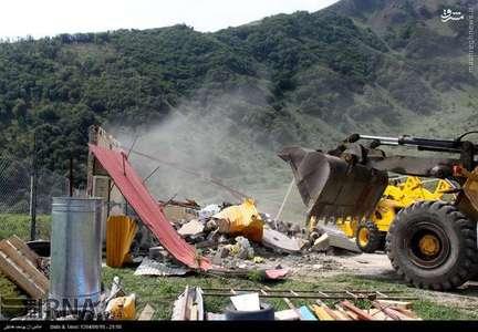 تخریب ساخت و سازهای غیرمجاز در گردنه حیران