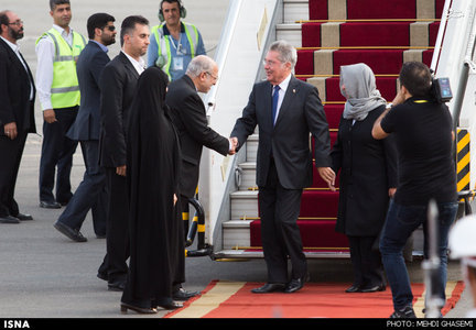 ورود رییس جمهور اتریش به ایران