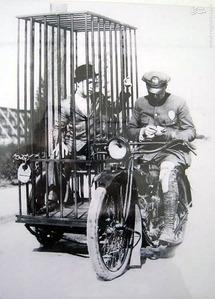 موتور مخصوص حمل زندانیان در سال 1920 که توسط کمپانی هارلی دیویدسون ساخته شده بود