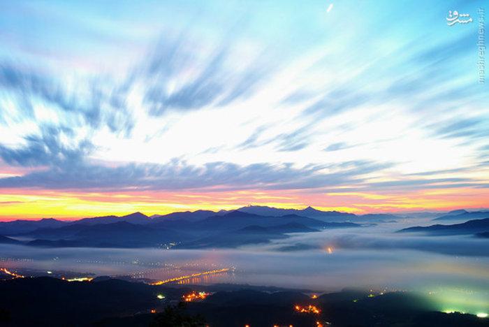 مه صبحگاهی در «گیونگی» کره جنوبی