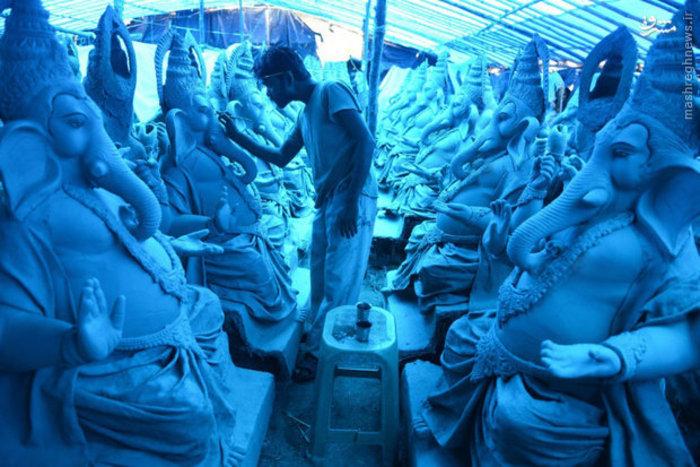 ساخت تندیس هندوها در حومه «حیدرآباد» هند
