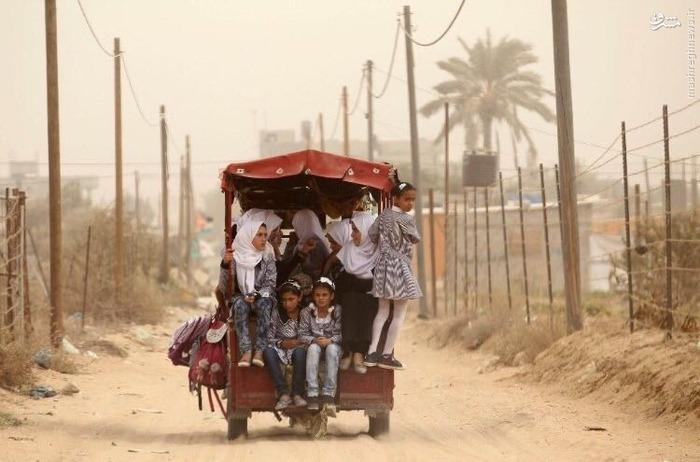 سرویس مدرسه کودکان غزه