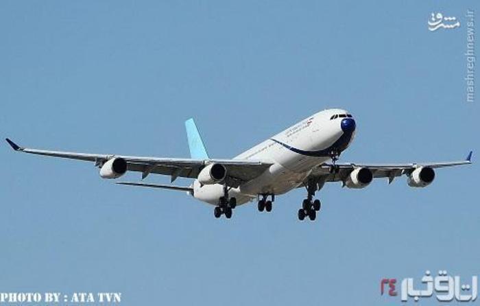 یک فروند ایرباس 340 که اخیرا وارد کشور شده است، در آسمان ایران پرواز کرد