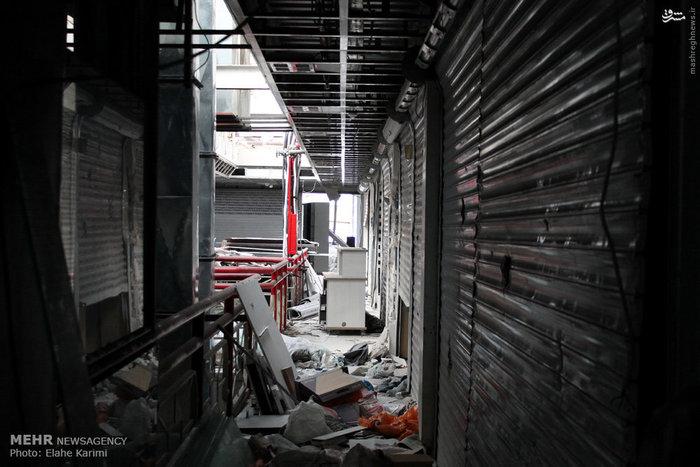 تخریب طبقه هفتم پاساژ علاءالدین