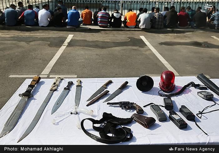 دستگیری 127 تن از اراذل و اوباش سطح تهران