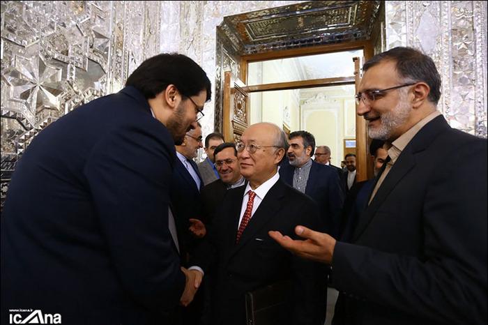 یوکیا آمانو با حضور در مجلس شورای اسلامی در نشست مشترک با اعضای کمیسیون ویژه بررسی برجام حضور یافت.