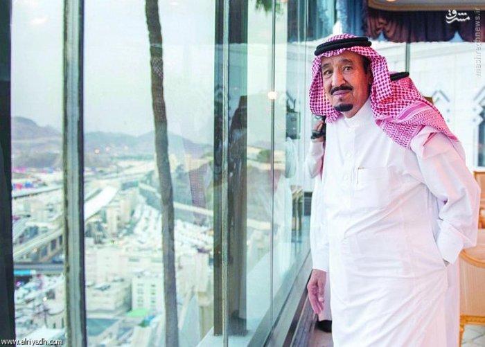 پادشاه عربستان از قصر خود حجاج را تماشا کرد + عکس