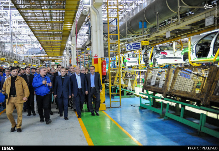 بازدید نوبخت و وزیر صنعت از ایران خودرو