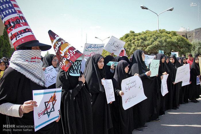 تجمع اعتراضی دانشجویان دانشگاه آزاد نسبت به فاجعه منا