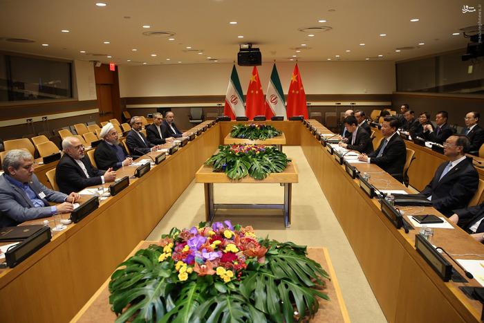 دیدار رؤسای جمهور ایران و چین