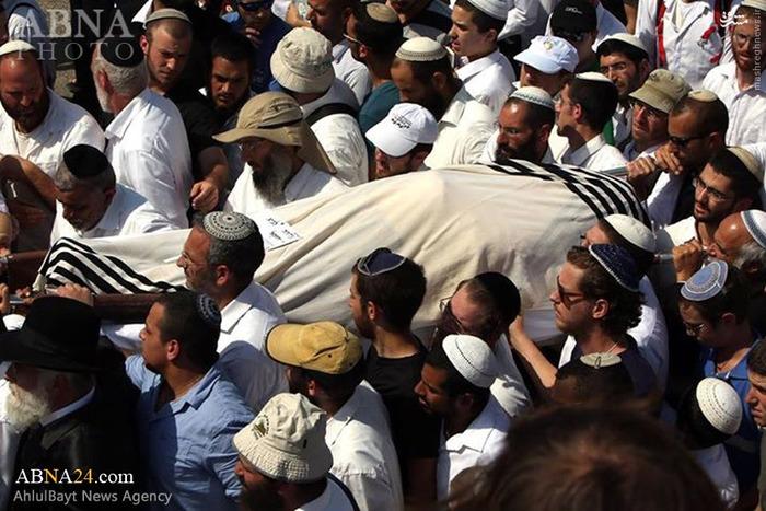 تشییع جنازه صهیونیست به هلاکت رسیده