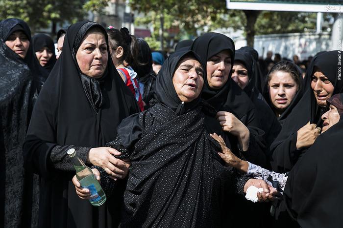 تشییع پیکر مطهر هفت زائر شهید منا در قائمشهر