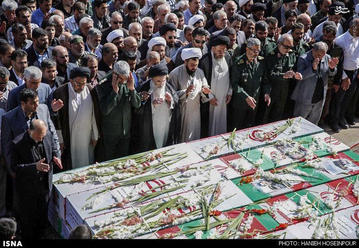 تشییع پیکر شهدای منا در شیراز با حضور وزیر اطلاعات