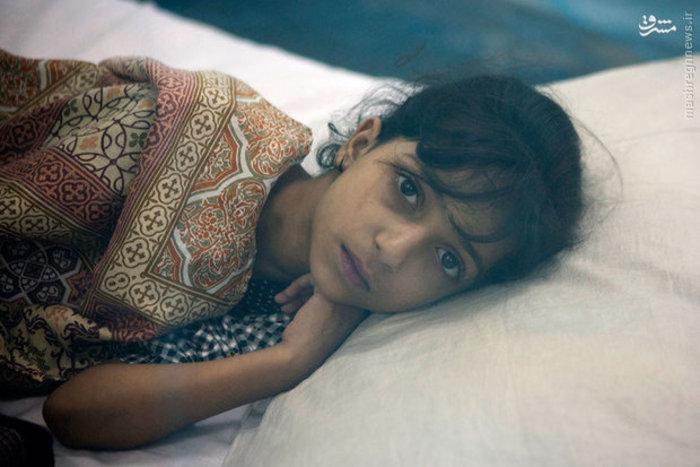 دختر پاکستانی مبتلا به تب دانگ در «راولپندی»