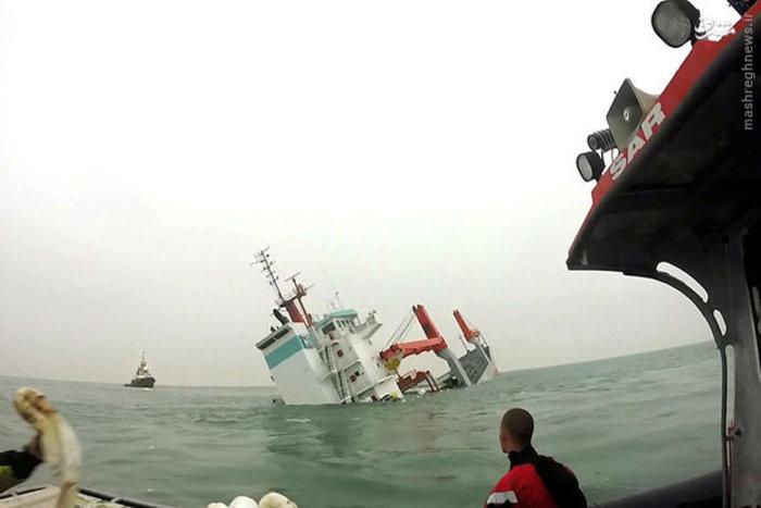یک کشتی باری در بلژیک غرق شد