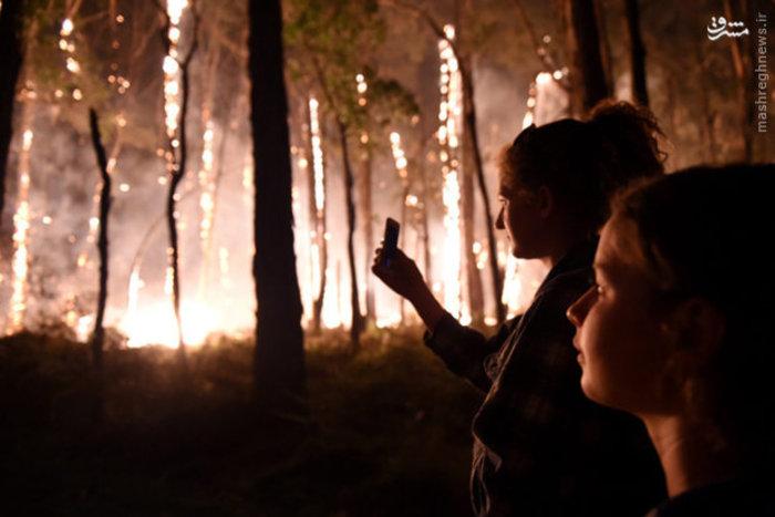 آتش سوزی در ملبورن استرالیا