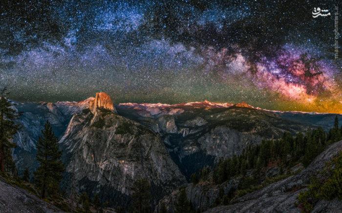 تصویر کهکشان راه شیری از یک دره