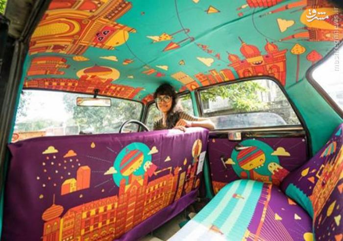 عده ای از طراحان هندی در کمپین «تاکسی فابریک» شرکت و از تاکسی های هند به عنوان بوم نقاشی استفاده کرند