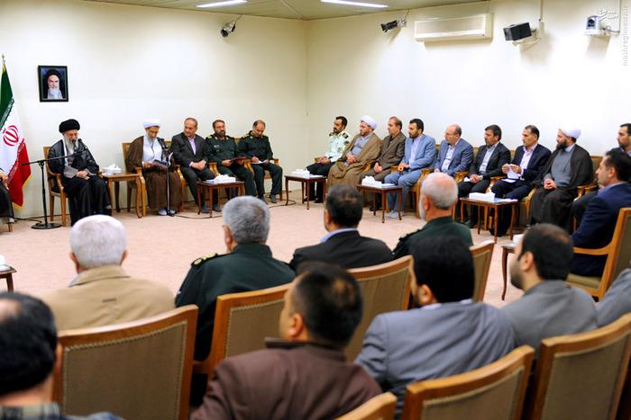 دیدار اعضاى ستاد کنگره شهدای استان چهارمحالوبختیارى با رهبر انقلاب