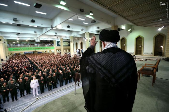دیدار فرماندهان و کارکنان نیروی دریایی سپاه با رهبر انقلاب