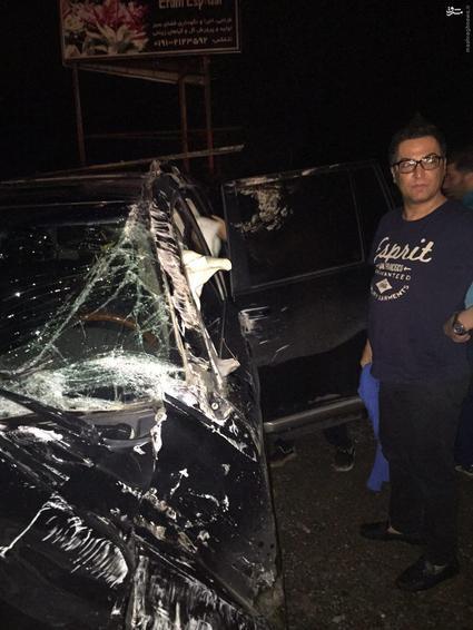 عکس/ تصادف شدید مهرداد میناوند ستاره پرسپولیس با ماشین گرانقیمتش