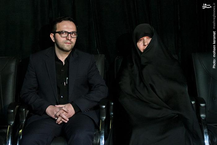 فرزند و همسر شهید حسین همدانی
