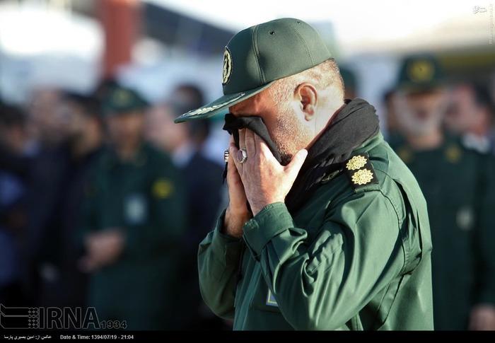 عکس/ لحظه ورود پیکر سردار شهید همدانی به زادگاهش