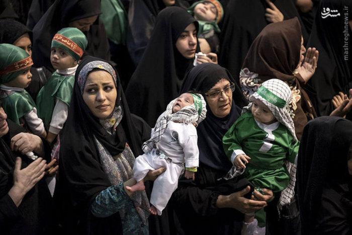همایش شیرخوارگان حسینی در مسجد امام خمینی تهران