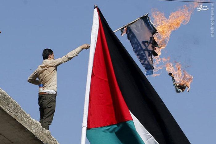 تظاهرات مردم اردن برای نشان دادن همبستگی با فلسطین بعد از نماز جمعه در «عمان»