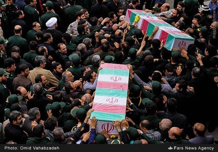 تشییع دو سردار مدافع حرم در تهران