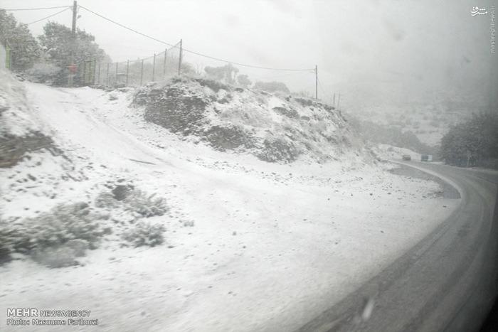 بارش برف پائیزی در کلیبر