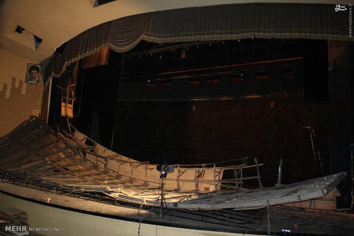 ریزش سقف سالن اصلی تئاتر شهر