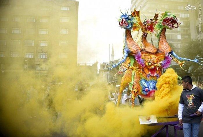 رژه سالانه با مجسمه های عجیب و غریب در مکزیک