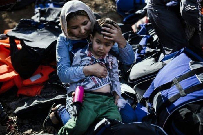 مهاجران پس از رسیدن به سواحل یونان