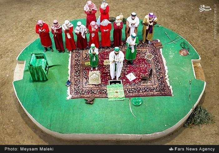 اجرای تعزیه مسلم بن عقیل در روستای حصار خروان