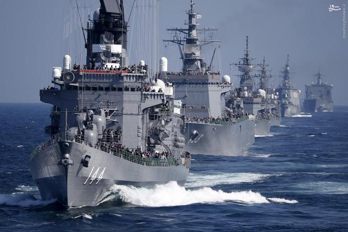 رزمایش مشترک دریایی ژاپن و آمریکا