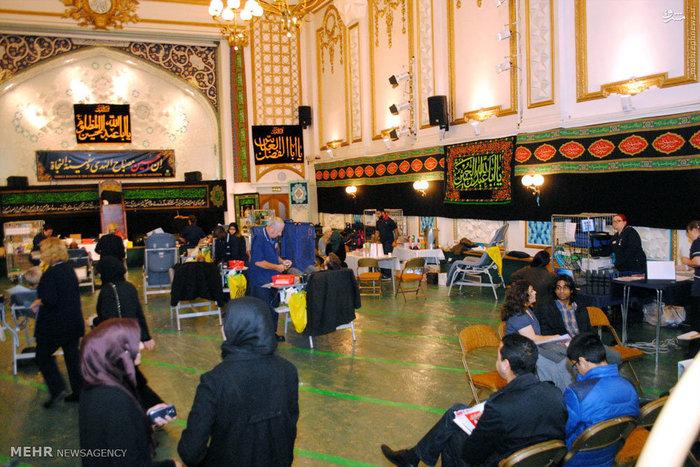 مراسم بزرگترين اهدای خون در انگليس به مناسبت ایام محرم در مرکز اسلامی انگليس برگزارشد