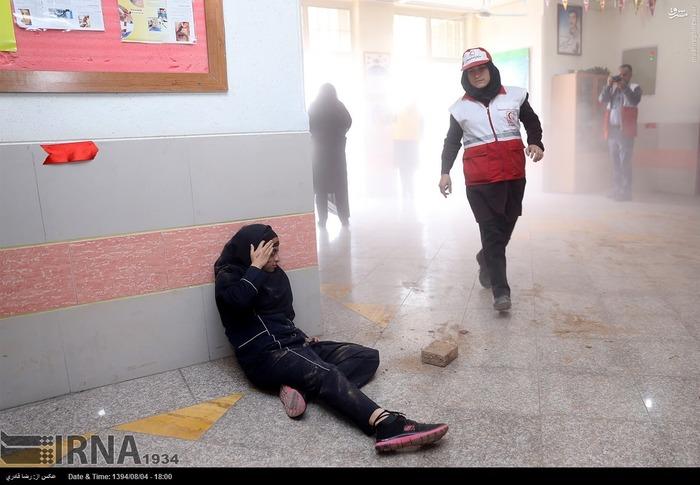 مانور زلزله در هفته پدافند غیرعامل در شیراز
