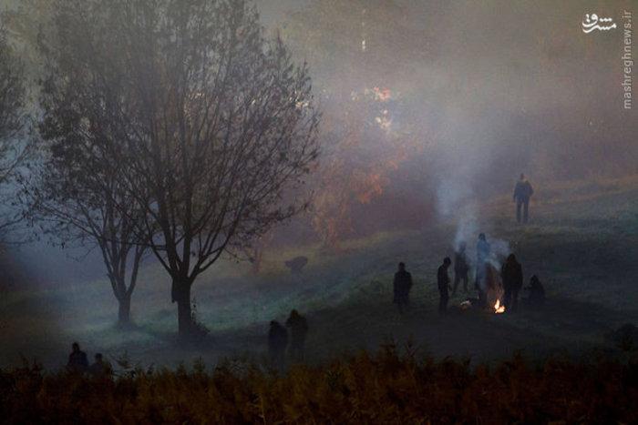 مهاجران در سرمای سخت مرزهای اتریش