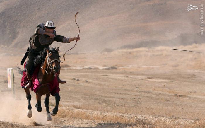 جشنواره شکار به شیوه سنتی در قرقیزستان