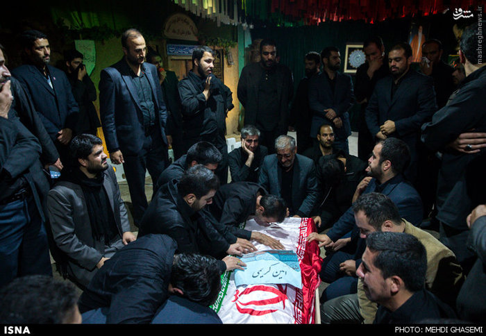 وداع با دو شهید مدافع حرم در معراج شهدا