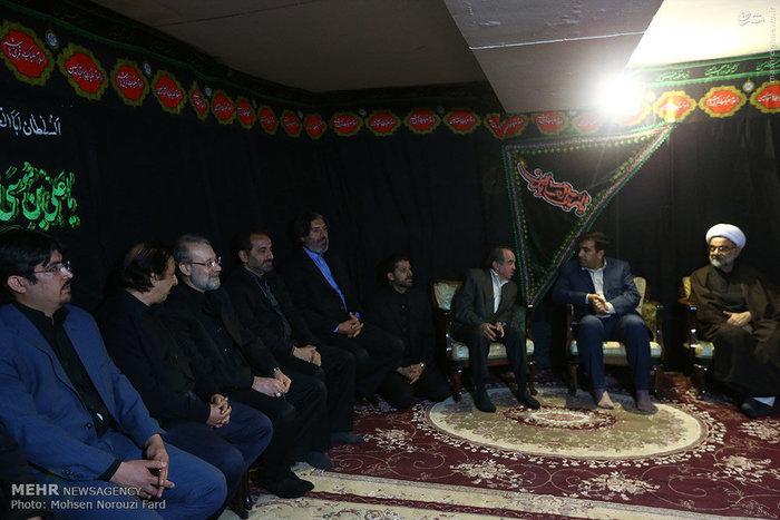 حضور لاریجانی در روضهخوانی منزل مجید مجیدی