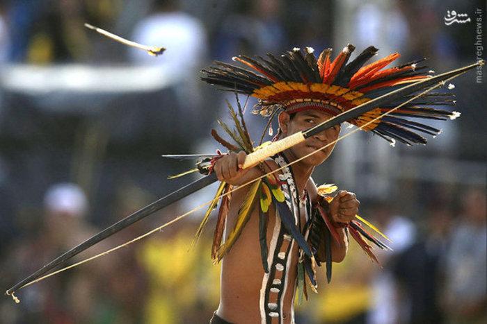 مسابقات تیراندازی سنتی مردم بومی شهر «پالماس» برزیل
