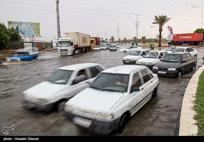 بارش باران شدید و آبگرفتگی در بوشهر